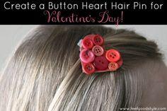 DIY Fashion: Create a Button Heart Hair Pin for Valentine's Day