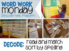 Each day of the week and what to do for word work!  Entire year bundle.  LOVE word work for the year, teach tidbit, tunstal teach, word families, year bundl, work storag, entir year