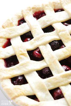 Sweet Cherry Pie Recipe   gimmesomeoven.com