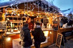 European Christmas Markets are magical experiences, but they're also great places to eat and to enjoy happy hour. Try a traditional warm, mulled wine to warm those chilly nights.