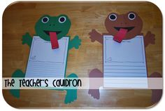 TONS of Frog and Toad activities - Reading, math, and science - and crafts!  Another cute item from Jen Ross