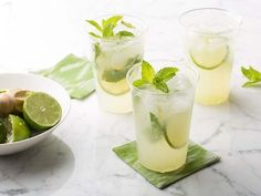 A Mojito Recipe Complete With Fresh Mint Ice Cubes