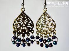 DIY Peacock Earrings