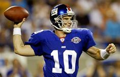 #10 Eli's coming! Not a Giants fan but since they are playing the Pats I am! LOL