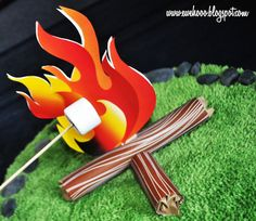 "printable ""fire"" for an indoor campout"