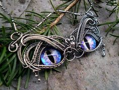 Gothic Steampunk Sterling Silver Evil Eye Pendant...  WANT!