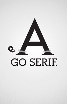Sans vs. Serif by Felix Ng, via Behance #typography