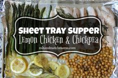 Lemon Chicken & Chickpea Sheet Tray Supper Recipe | Mix and Match Mama