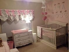 Ava's pink and grey nursery