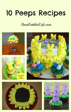 10 Peeps Recipes - Peeps! Peeps! Marshmallow Peep! One of my favorite candies. Here are 10 Easter Peeps recipes to liven up dessert, and take full advantage of the sugary goodness that is marshmallow peeps! http://www.annsentitledlife.com/recipes/10-peeps-recipes/