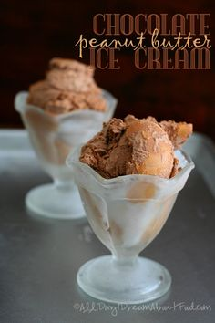 Low Carb Chocolate Peanut Butter Ice Cream Recipe | All Day I Dream About Food