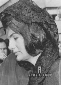 Mrs. John F. Kennedy leaves St. Mathew's Cathedral here 5/29 after attending a Memorial Mass for her late husband on what would have been his 47th birthday.