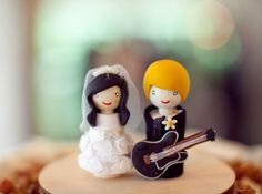 Rock and roll cake topper (but still super-cute!)