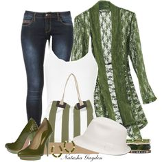 Casual Outfits | Green Lace Jacket | Fashionista Trends