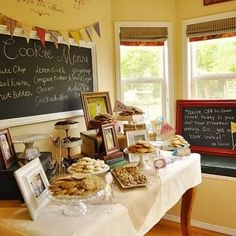 Open House to celebrate a high school graduation with a milk and cookie bar.