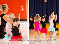 My daughter at her dance class