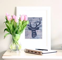 Free Printable | I love you, my deer - http://akadesign.ca/free-printable-love-deer/