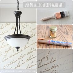 DIY Metallic Script Canvas tutorial. Add your fave song lyrics for a personalized and meaningful art piece.
