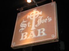 St. Joe's Bar. Blueberry Mojito's.