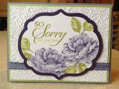 SU So Sorry and Stippled Blossoms card idea, craft, paper, stippl blossom, catherin, stamps, stippled blossoms stampin up, stampin up stippled blossoms, sympathi card