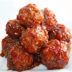 "BBQ Glazed Homemade Meatballs | ""Delicious! I brought these to a party and received many compliments. I put a good spoonful of the sauce over each meatball and it made a nice glaze. Smelled fantastic while baking,"""