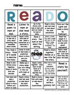 Check out our original Read-O, Math-O, and Write-O that you can use as a home-school connection for reading, math, and writing. Parents are given f...FREE!!!!