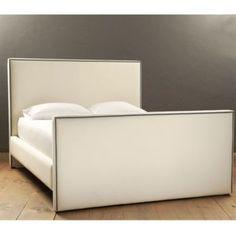 Mara Bed with Pewter Nailheads | European-Inspired Home Furnishings | Ballard Designs