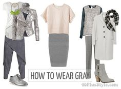 How to wear gray this season | 40plusstyle.com