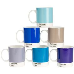 Pantone Mugs set of 6