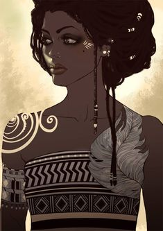 — African Girl Saina Six by ~Saina6 on deviantART #dragonkings
