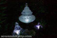 DIY Solar Garden Lights #outdoorlighting