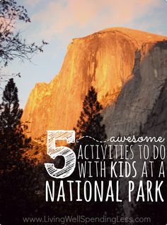 Need some new ideas for your next family vacation?  Don't miss these five awesome activities you can do with kids at almost any National Park, plus some great tips for making the most of your visit!  #2 is so cool!