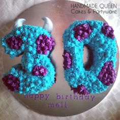 Monster's Inc 'Sully' 30th Birthday Cake