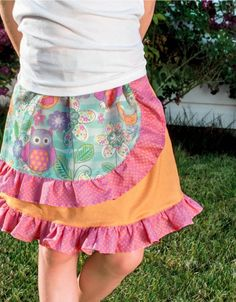 Create a fun and flowy Girl'€™s Ruffled Skirt with supplies from joann.com ! | easy kids clothing