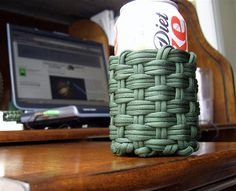 woven paracord can koozie 1 | Flickr - Photo Sharing!