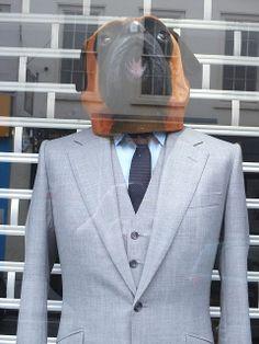 Hounds tooth suit, pinned by Ton van der Veer