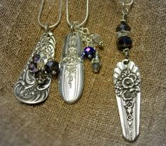 Spoon and beads pendants