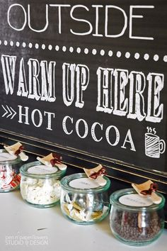 Hot Cocoa Bar Ideas with FREE Printables
