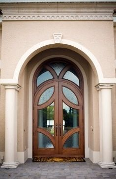 Curved doors are one of my favorites
