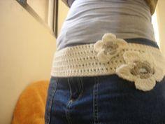 crochet belt with flowers