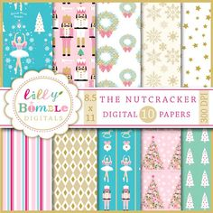Christmas Digital Papers Letter Size the NUTCRACKER ballerina. $5.00, via Etsy.