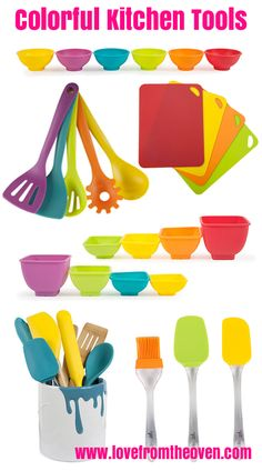 Colorful kitchen tools.   Great affordable holiday gifts!