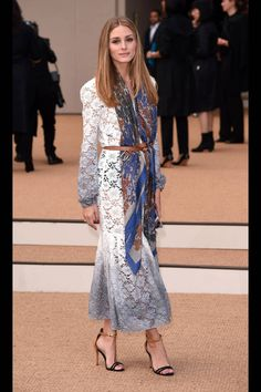 Olivia Palermo in Burberry.
