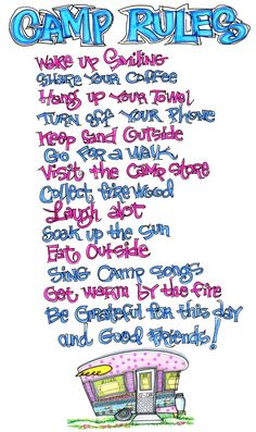 camp song, camping rules, camp rules, troop camp