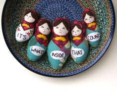 Felt Matryoshka Russian Dolls