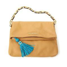 Lilly Pulitzer Worth It Leather Clutch Handbag