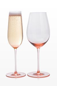 LOVE this glasses! Cameo Sparkling Wine Glasses | Crate and Barrel  #setthetable