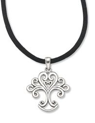 """Would love something similar as a tattoo! Tree of Love Pendant $32.00  Flourishes of silver form a Tree of Life, culminating in a heart - cradling another heart. Sterling silver pendant on 18"""" satin cord."""