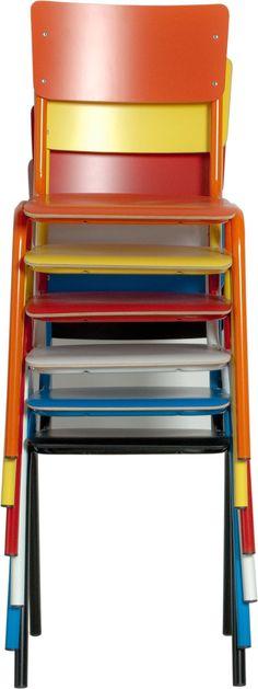 Stoel Back To School HPL - Zwart - Zuiver (SALE) - Woonwebwinkel LiL.nl