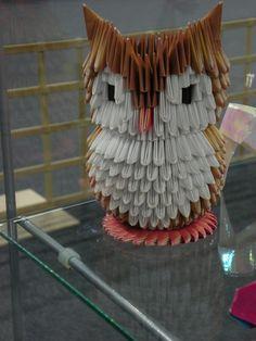 Buho de origami 3D